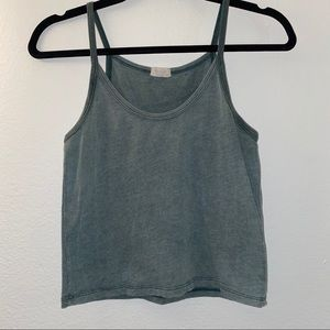 Scoop neck green tank